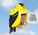 Goldfinch Bird Feeder Pattern