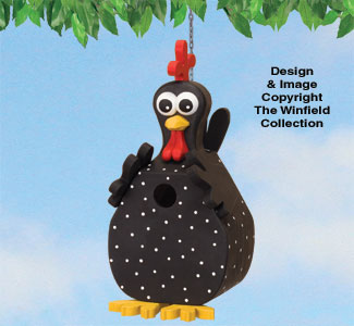 Funky Chicken Birdhouse Pattern