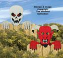 Skeleton & Devil Fence Peekers Pattern
