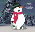 Giant Skating Snowman Woodcraft Pattern