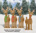 Pallet Wood Reindeer Pattern