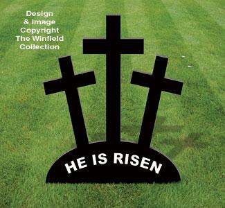 Medium Three Crosses Easter Pattern