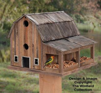 Rustic Barn Birdhouse #2 Wood Plan