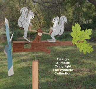 Teetering Squirrels Whirligig Pattern