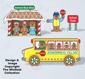 Gingerbread School Bus Woodcraft Pattern