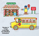 Gingerbread School Bus Woodcraft Pattern