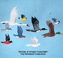 9 Wild Bird Wind Mobile Patterns Set #3