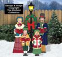 Victorian Caroling Family Color Poster Set