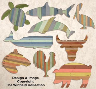 Pallet Wood Wall Art Combo Pattern Set