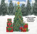 Pallet Wood Fir Tree and Gifts Pattern Set