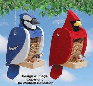Bird Feeder Woodworking Plans Cardinal Blue Jay Shaped Feeder Set