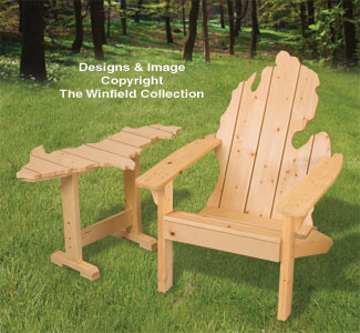 Adirondack MICHIGAN Chair U0026 UP Table Plans