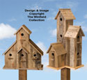 Pallet Wood Birdhouse Plans Set