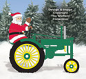 Waving Side View Santa #2 and Tractor Pattern Set