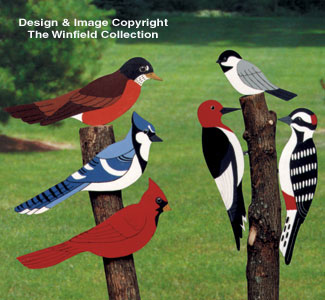 All yard garden projects giant yard birds wood pattern for Wood lawn ornament patterns