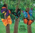 Bright Butterflies #2 Wood Pattern