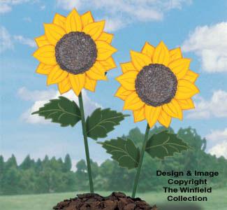 Giant Yard Sunflowers Woodcraft Pattern
