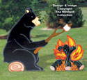 Campfire Bear Woodcrafting Pattern