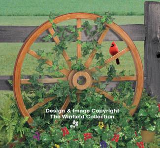 Yard Art Woodcraft Plans Wagon Wheel Woodworking Plan