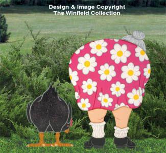 Backside Lady & Chicken Pattern
