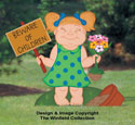 Girl At Play Woodcrafting Pattern