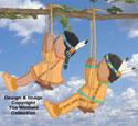 Swinging Indian Kids Pattern