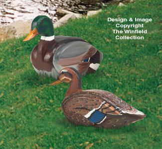 3D Life Size Mallard Ducks Woodcraft Pattern