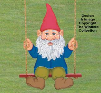Swinging Gnome Wood Pattern