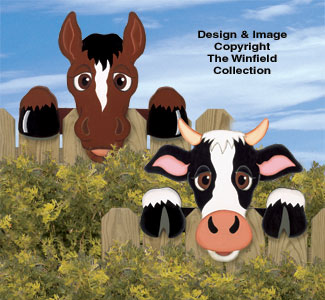 Cow & Horse Fence Peekers Wood Plan