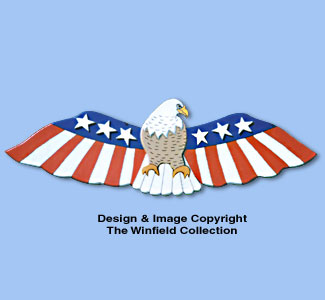 Patriotic Eagle Woodcraft Pattern
