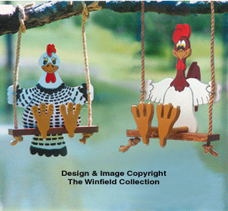 Swinging Rooster and Chicken Patterns