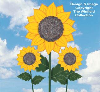 Yard Art Woodcraft Plans Sunflower Wood Pattern Collection