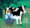 Farmer Milking Cow Woodcraft Pattern