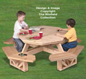 Kid's Octagon Picnic Table Woodworking Pattern