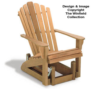 Adirondack Furniture Plans Adirondack Glider Chair Wood Project Plan