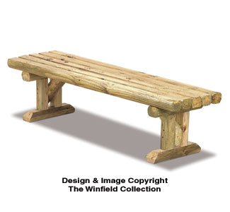 All yard garden projects landscape timber bench for Landscape timber bench