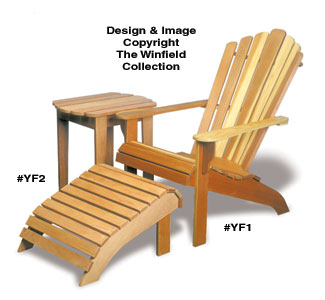 outdoor furniture plans adirondack chair table ottoman wood plans