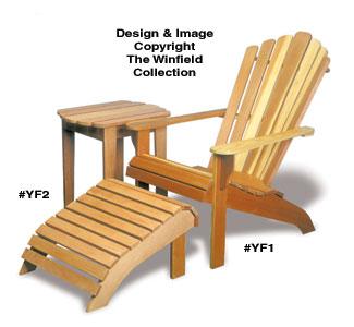 Adirondack Chair, Table U0026 Ottoman Wood Plans
