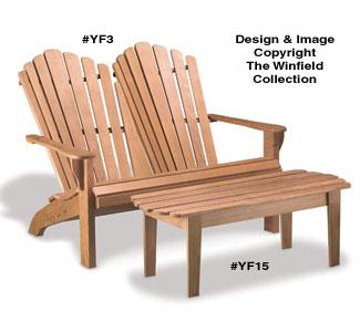 Surprising All Yard Garden Projects Adirondack Loveseat Coffee Evergreenethics Interior Chair Design Evergreenethicsorg