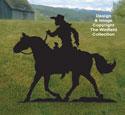 Cowgirl on Horseback Shadow Pattern