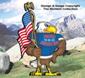 Proud Eagle Color Poster