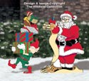 North Pole Santa's List Color Poster