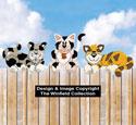 Layered Fence Cats Pattern