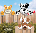 Cat & Dogs Fence Peepers Pattern
