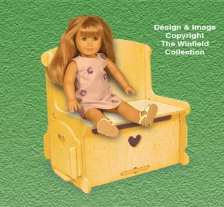 Doll Furniture Storage Bin/Seat Pattern
