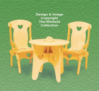 Doll Furniture Table & Chairs Pattern