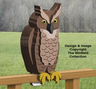 3D Great Horned Owl Pattern