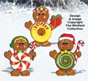Gingerbread Candy Kids Pattern
