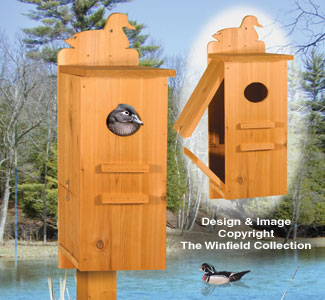 All bird project plans patterns wood duck house pattern for Build your own duck house