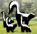 3D Skunks Pattern
